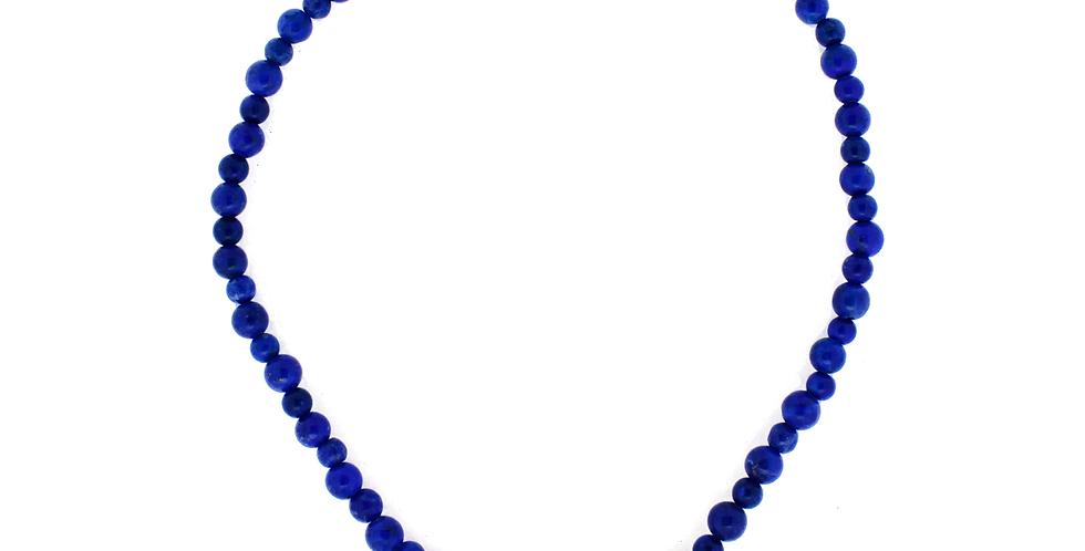 Halskæde med lapis lazuli - halskæde med blå sten