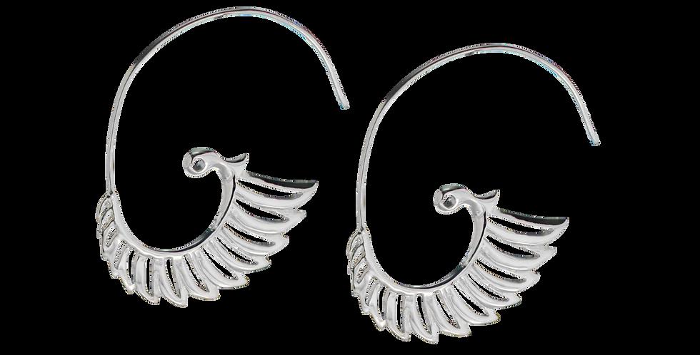 Sølvøreringe - creoler øreringe - sølvklinger