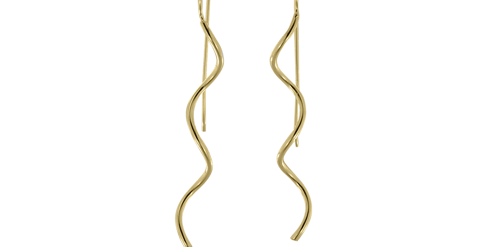 Forgyldte lodrette spiraler