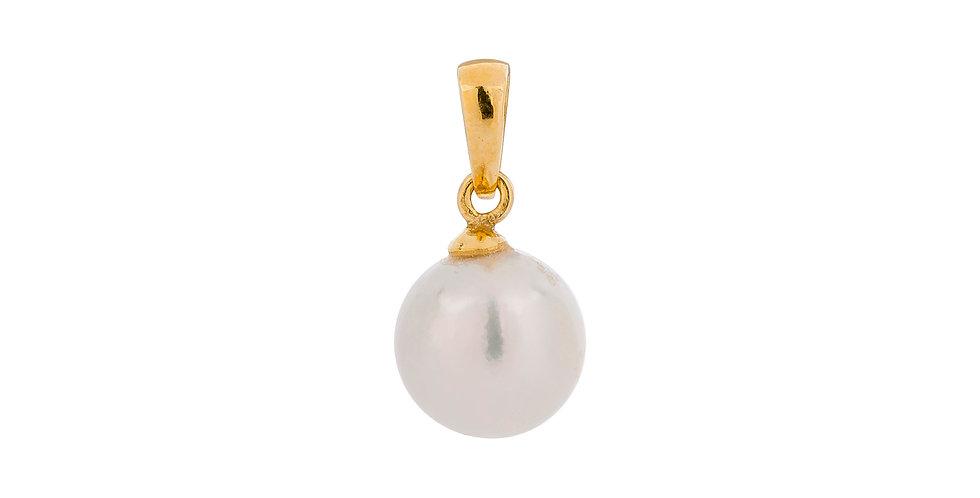 Guldvedhæng med south sea perle