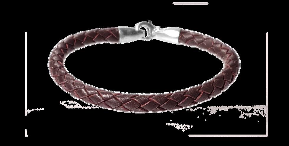 Flettet læderarmbånd