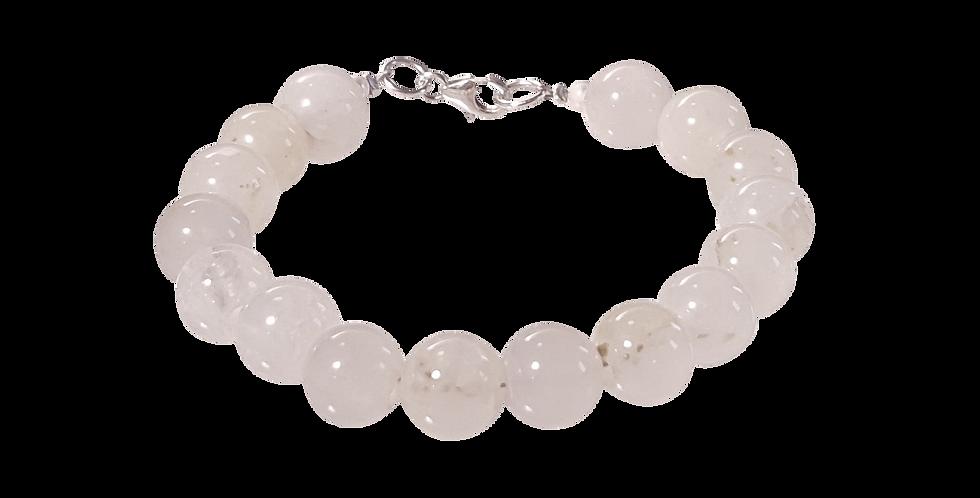 Armbånd med hvid/transparent jade