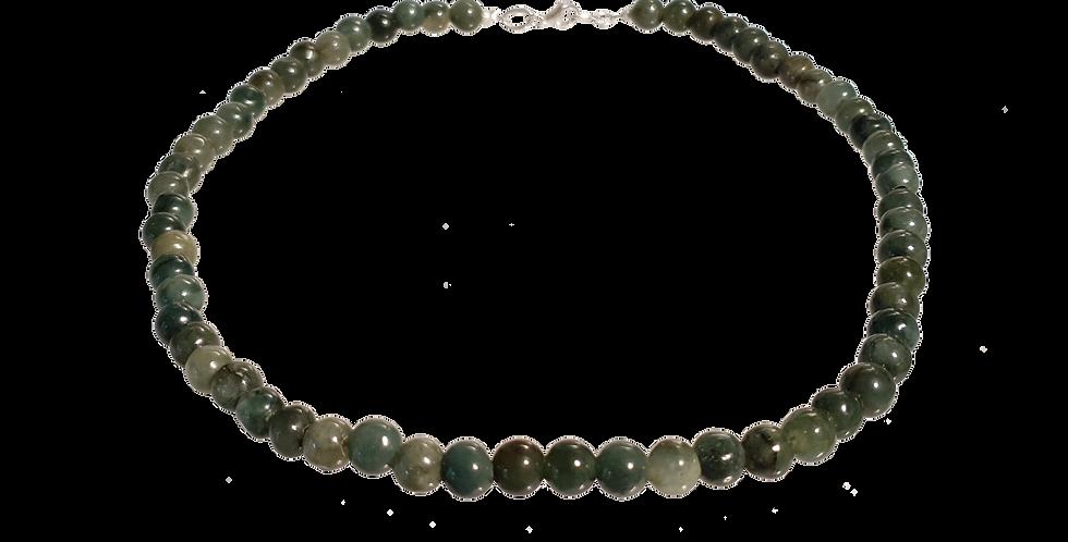 Halskæde med grøn jade
