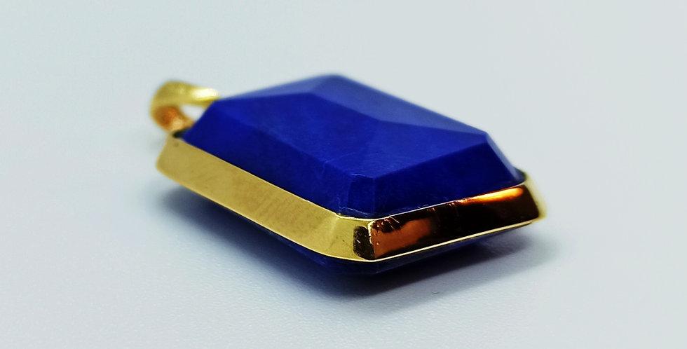 14 kt. guldvedhæng med lapis lazuli