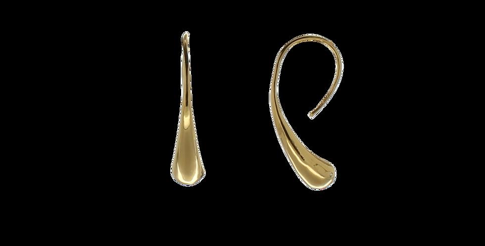 Forgyldte øreringe med pendul