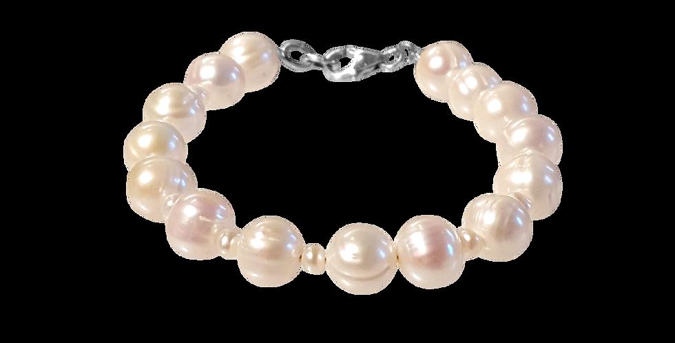 Perlearmbånd med struktur