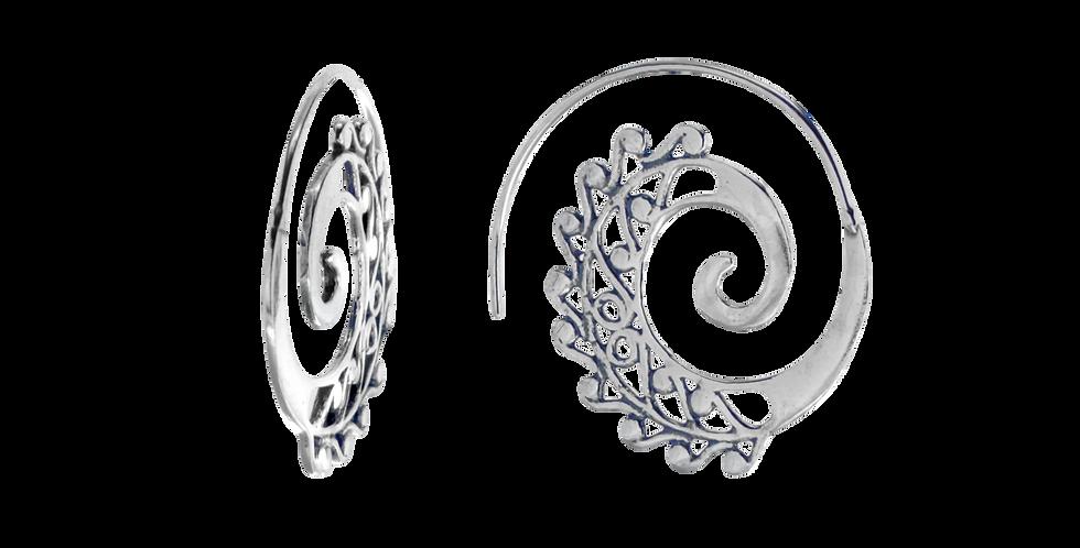 Oxyderede mønstrede sølvcreoler