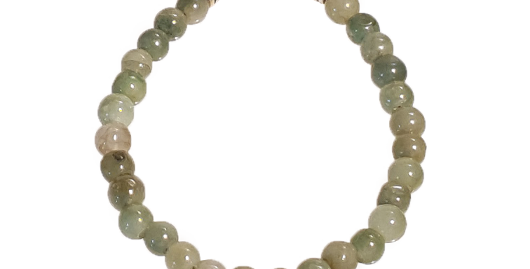 Armbånd med små grønne jadebeads