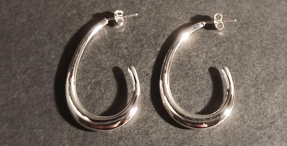 Øreringe med buet krog
