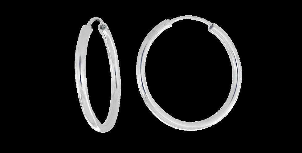 Klassiske sølvcreoler - 35 mm
