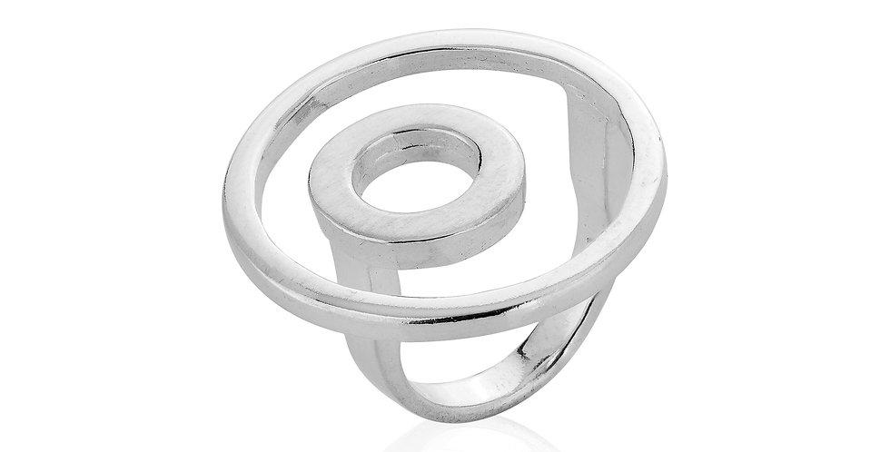 Cirkelformet sølvring - ringen i ringen - geometrisk design