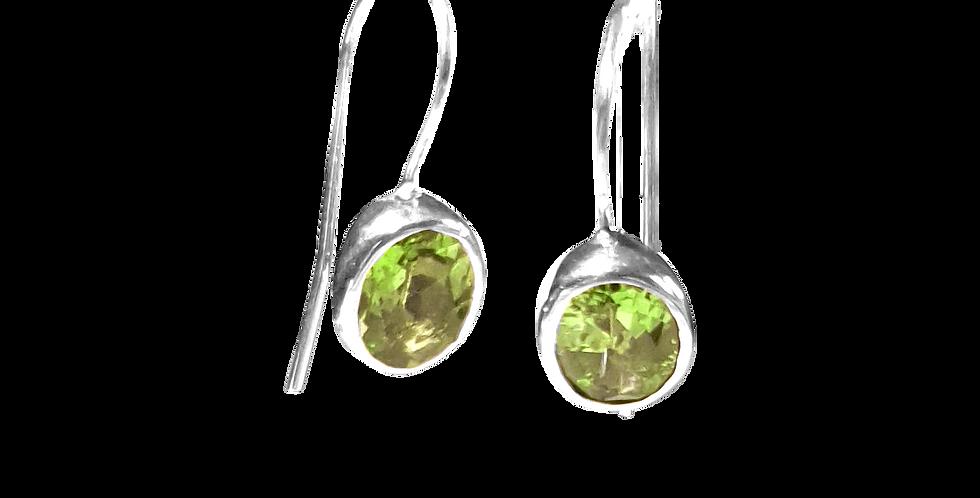 Øreringe med peridot
