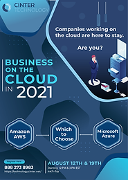 MEMBER EVENT -  Cinter Technology Webinar:  Business in the Cloud in 2021
