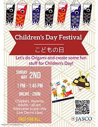 ONLINE CHILDREN'S DAY ORIGAMI ACTIVITY
