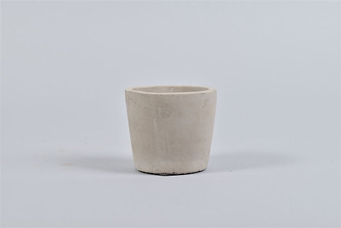 Small Circular Concrete Pot