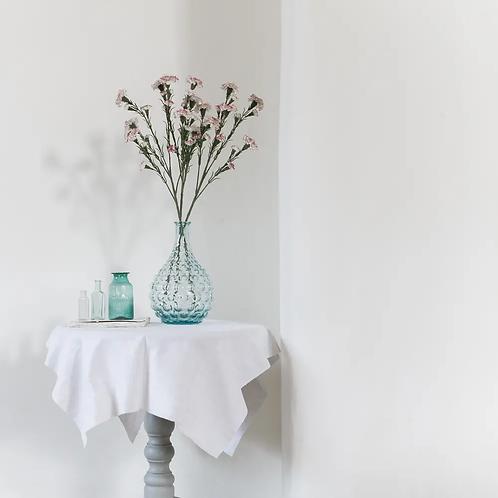 Faux Carnation Sprig - Variegated Pink