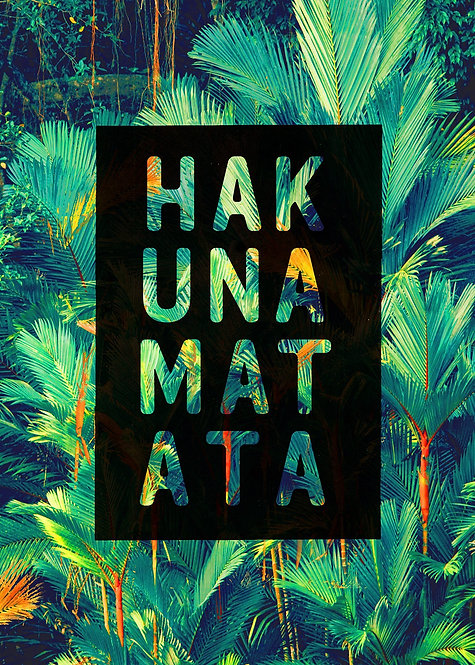 Hakuna Matata Lion King Quote Tropical Print