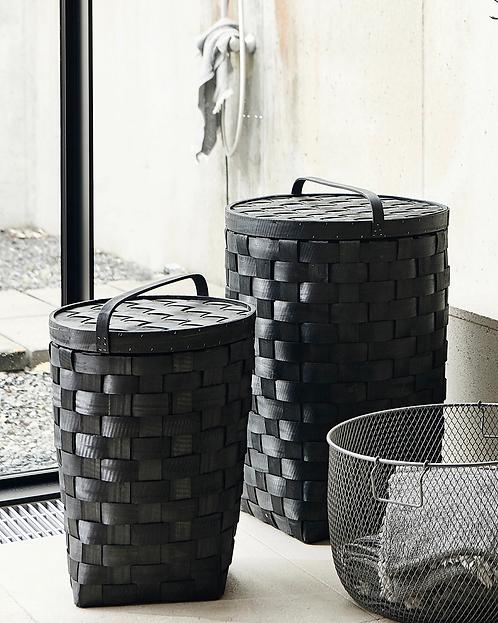Basket with Lid - Black