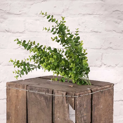 Faux Mini Eucalyptus Bush - Green