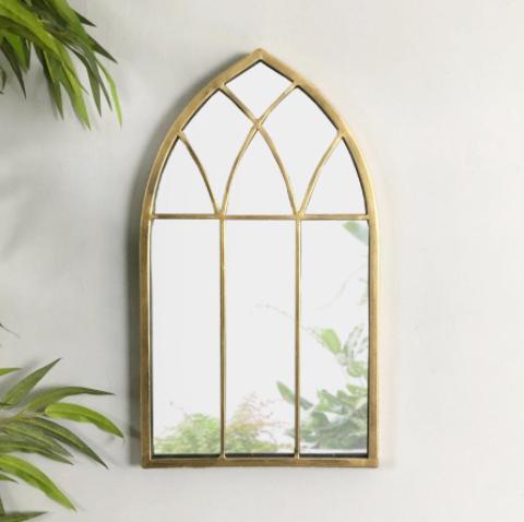 Arch Mirror - Gold