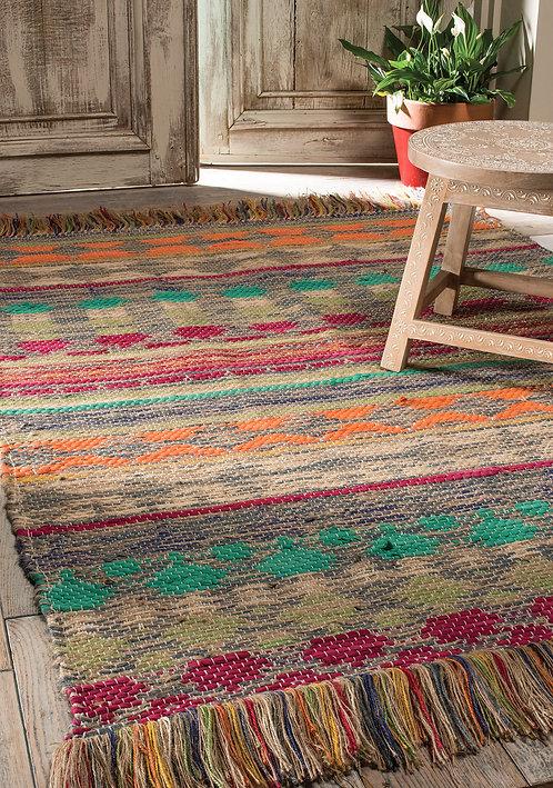 Panama Multi Colour Cotton & Jute Handloom Rug