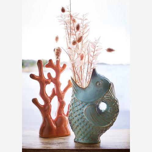 Turquoise Fish Vase