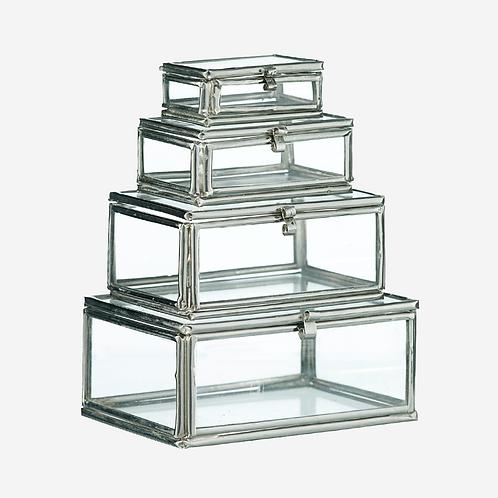 Rectangular Glass Trinket Box