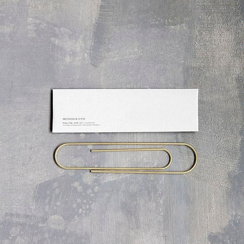 Giant Paper Clip - Gold