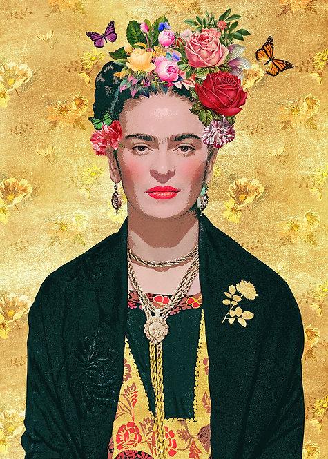 Frida Kahlo Gold Print