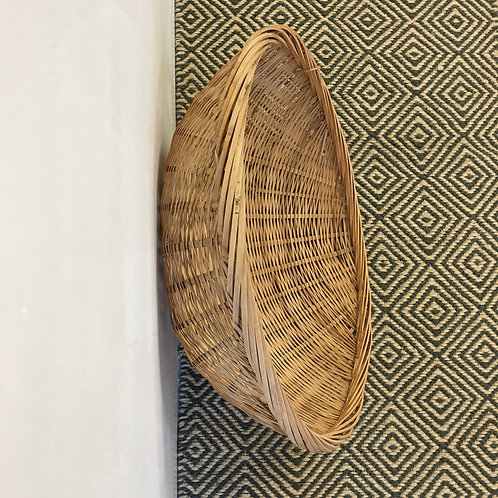 Large Shallow Woven Basket