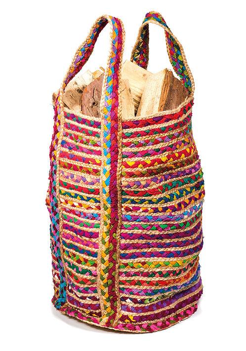 Cotton and Jute Chindi Bag - Large