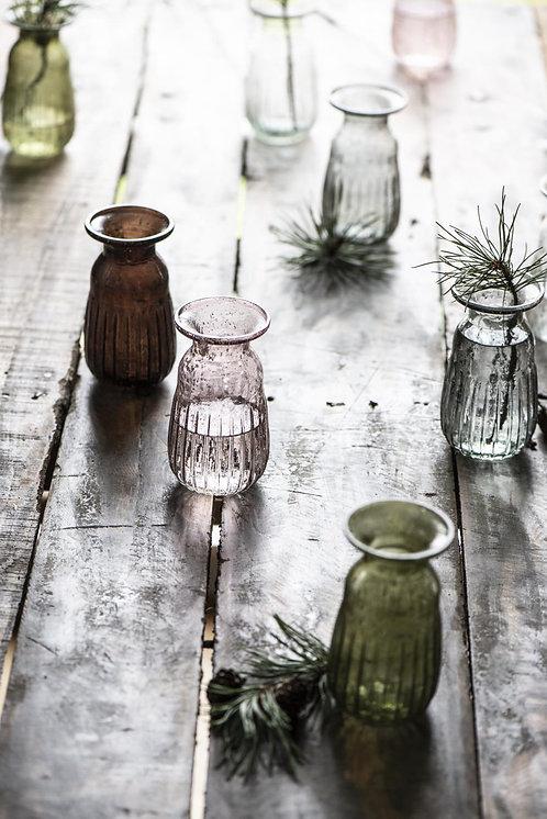 Pebbled Glass Hyacinth Vase