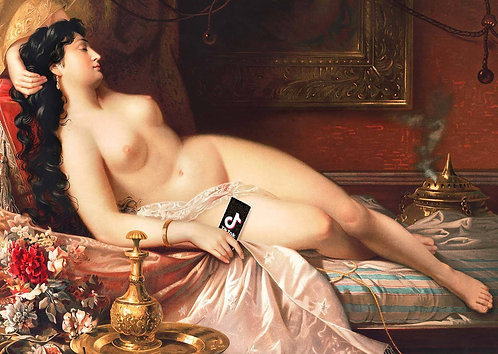 Tik Tok Oil Nude Life Painting Print