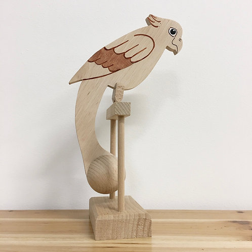 Wooden Rocking Parrot