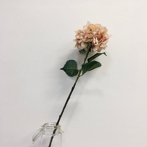 Silk Hydrangea Branch - Old Pink