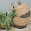 Thumbnail: Seagrass Basket Tall with Handle Charcoal Base