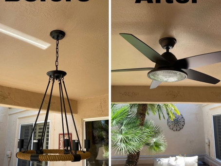 Swapping Light Fixture for Ceiling Fan