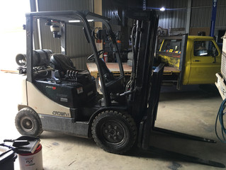 Yes we do forklifts as well. Just another service we provide here at Bosto's.