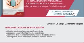 REVISTA TEMAS DE DERECHO DE FAMILIA, SUCESIONES Y BIOETICA. FEBRERO 18