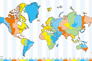 International Time Zones Supported - Time and Attendance