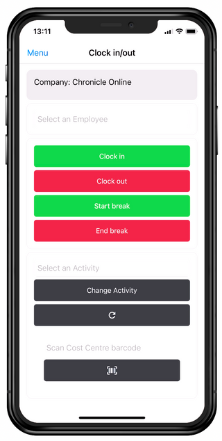 Job Costing Update - Barcode scanning
