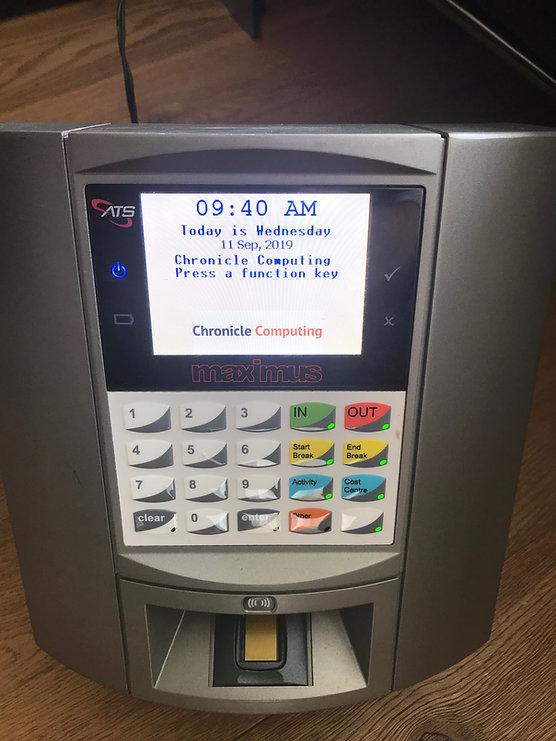 Biometric Clocking Terminal