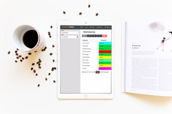 coffee-and-ipad-pro group calendar