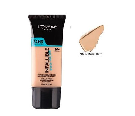 L'Oreral Infallible Pro Glow 24HR Foundation - 204 Natural Buff