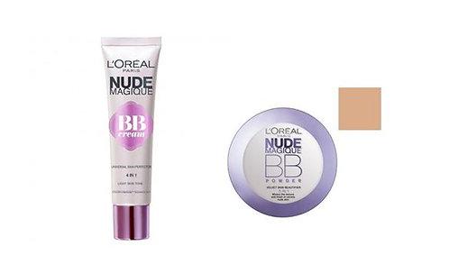 LÓreal Nude Magique BB Cream & LÓreal BB Powder- Medium Skin Tone