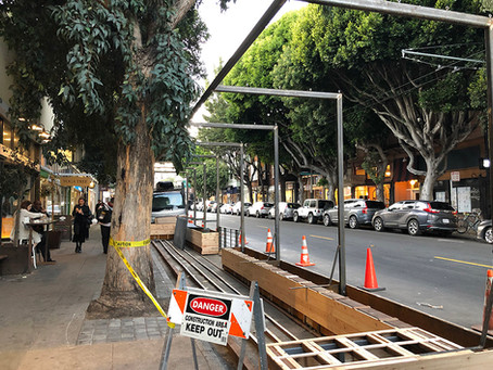 New Parklet Being Installed At Hayes & Octavia