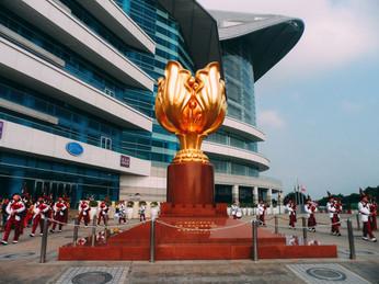 Golden Bauhinia Square (and HKCEC)