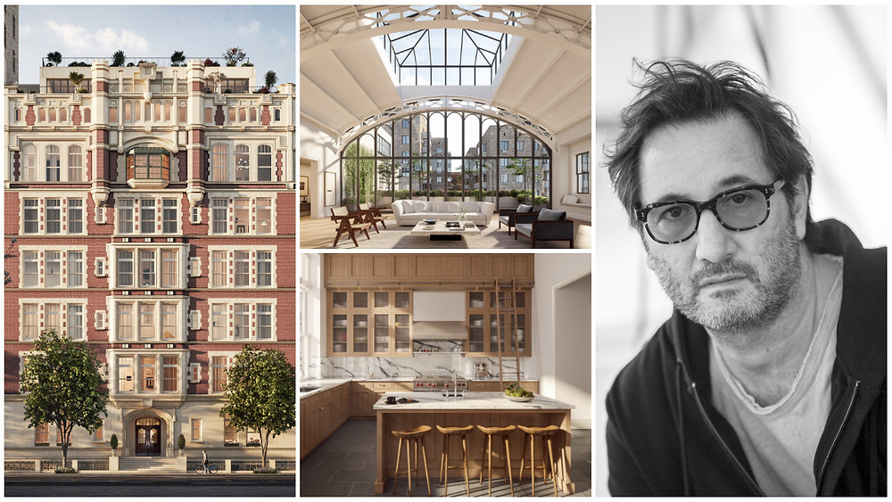 Mr. Tamarkin, with his newest development, 555 West End Avenue, a landmarked private school reborn as 13 one-of-a-kind homes on the Upper West Side. (HAYES DAVIDSON)