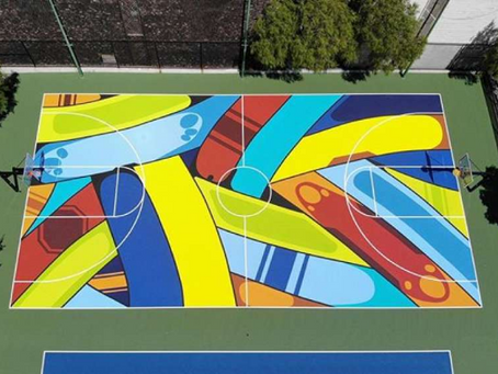 Kevin Durant's Parting Gift for SF is a Work of Art That You Can Ball On
