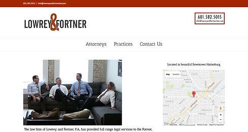 Lowrey & Fortner Website| Red Door Marketing